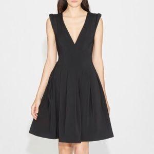 HALSTON HERITAGE Stretch Faille Cap Sleeve Dress